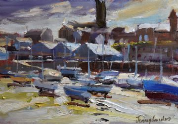 Jeremy Sanders Original Oil Painting Penzance Harbour Cornwall